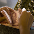 Hand counting money — Stock Photo