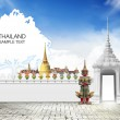 Thailand travel background concept — Stock Photo #19409269