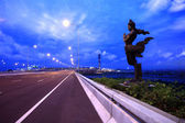 Apsonsi-thai magnificent statue against cloudy sky background — Stock Photo