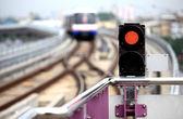 Traffic signal sky-train — Stock Photo