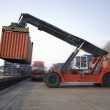 Container operation in port — Stock Photo #19441183