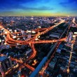 Bangkok Expressway and Highway top view, Thailand — Stock Photo #19443055