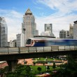 Stock Photo: Sky train in Bangkok
