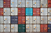Containers in an international port container shipping — Stock Photo
