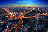 Bangkok Expressway and Highway top view, Thailand — Stock Photo
