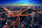 Bangkok superstrada e autostrada vista dall'alto, thailandia — Foto Stock