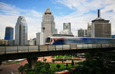 Sky train in Bangkok — Stock Photo