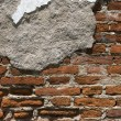 Destruction of brick wall background — Stockfoto #19454545