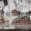 Destruction of brick wall background — Stockfoto #19462043
