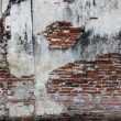 Destruction of brick wall background — Stockfoto #19463309