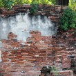 Destruction of brick wall background — Stockfoto #19508567