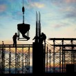 Stock Photo: Construction silhouette