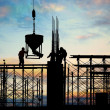 Construction silhouette — Stock Photo