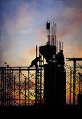 Construction silhouette — Stock Photo