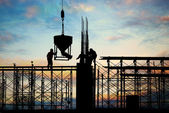 Construction silhouette — Foto de Stock