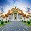 Stock Photo: Traditional Thai architecture, Wat Benjamaborphit or Marble Temple, Bangkok
