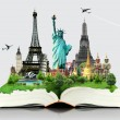Stock Photo: Book of travel