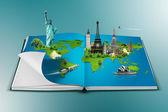 Book of travel — Stock Photo