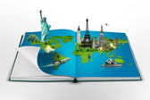 Book of travel — Stock Photo