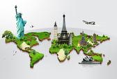 El concepto de monumentos del mundo de viajes — Foto de Stock