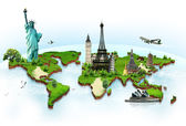 Travel the world monuments concept — Stok fotoğraf