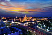 Grand palace at twilight in Bangkok, Thailand — Stock Photo