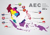 ASEAN Economic Community, AEC, concept — Stock Vector