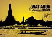 Vector, Wat Arun in bangkok thailand — Stock Vector