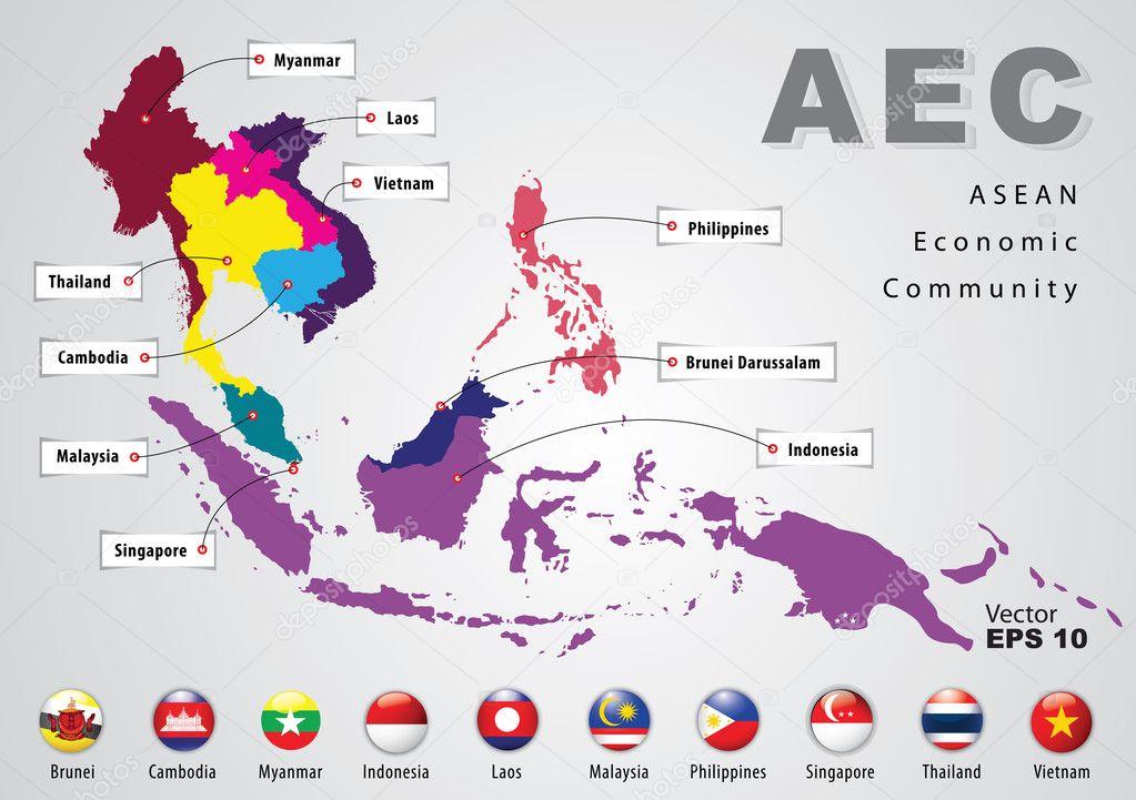 What are the aecs four pillars do you know the asean economic aec asean map malvernweather Choice Image