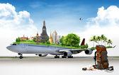 Airplane Travel, concept — Stock Photo