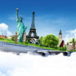 Travel the world by airplane, concept — Stock Photo #25558141