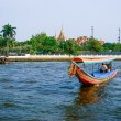 Boat on Chao Phraya river , Bangkok, Thailand — Stock Photo