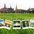 Travel photography on clothespins, thailand — Stock Photo