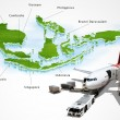 Stock Photo: Air transport in ASEAN, concept