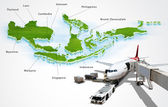 Air transport in ASEAN, concept — Stock Photo