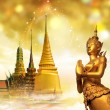 Thailand travel background, concept — Stock Photo