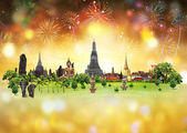 Fireworks with Thailand Festival, concept — Stock Photo