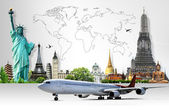 Travel the world concept — Stock Photo