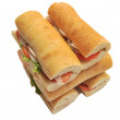 Long tasty sandwich — Stock Photo