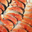 The big pieces of red fish — Stock Photo
