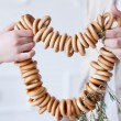 Sheaf of tasty bagels — Stock Photo
