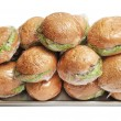 Stock Photo: Packed hamburgers