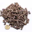 Pellets on a white background — Stok fotoğraf