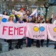Activists of Ukrainiwomens movement FEMEN. — Stock Photo #30434695