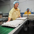 Egg chicken farm, packing lines — Stock Photo #30434841
