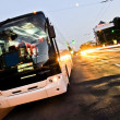 White bus — Stockfoto