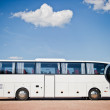 Stock Photo: White bus