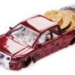 Toy car money — Stock Photo