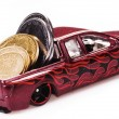 Toy car money — Stock Photo #30857945