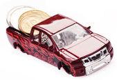 Toy car money — Stock Photo